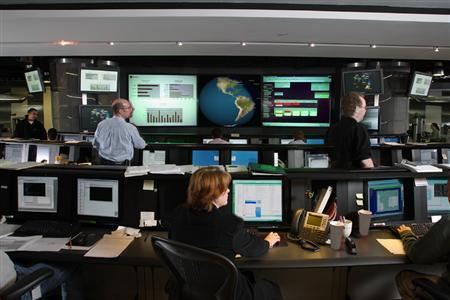A view of the Symantec Security Operations Center in a photo courtesy of the company. REUTERS/Handout