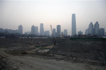 A construction site is seen in Beijing's central business district December 27, 2011. REUTERS/Jason Lee
