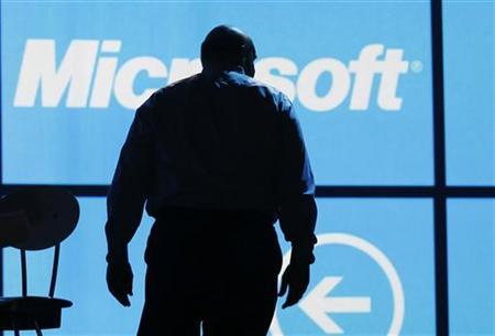 Microsoft CEO Steve Ballmer leaves the stage after the last opening Microsoft keynote at the Consumer Electronics Show opening in Las Vegas January 9, 2012. REUTERS/Rick Wilking