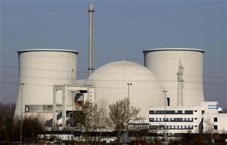The nuclear power plant of German energy company RWE is seen on a sunny morning in Biblis, southwest Germany, March 22, 2011.  REUTERS/Kai Pfaffenbach