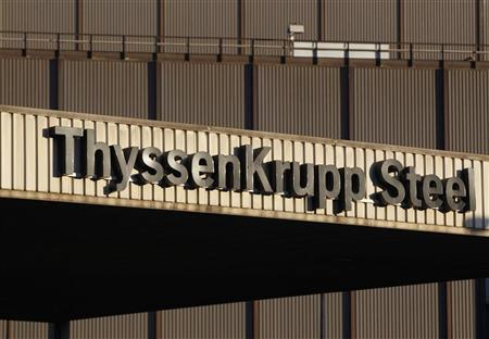 The headquarters of Germany's industrial conglomerate ThyssenKrupp AG is seen in Duisburg September 23, 2010. Steel workers demanded higher wages. REUTERS/Ina Fassbender