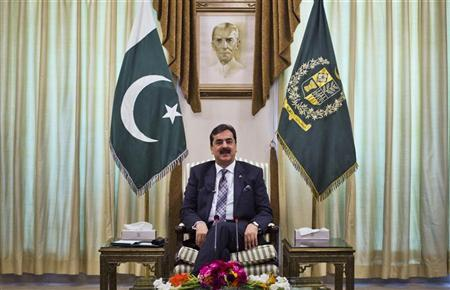 Pakistan's Prime Minister Yusuf Raza Gilani at the prime minister's residence in Islamabad May 16, 2011. REUTERS/Mian Khursheed/Files