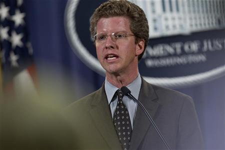 Department of Housing and Urban Development Secretary Shaun Donovan speaks during a news conference at the Department of Justice in Washington D.C. December 21, 2011. REUTERS/Benjamin Myers