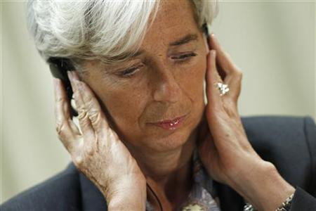 International Monetary Fund Managing Director Christine Lagarde during a news conference in Brasilia, December 1, 2011. REUTERS/Ueslei Marcelino