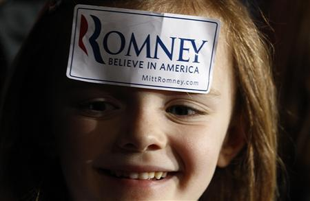 A supporter of U.S. Republican presidential candidate and former Massachusetts Governor Mitt Romney attends a campaign rally at Winthrop University in Rock Hill, South Carolina January 18, 2012. REUTERS/Jim Young