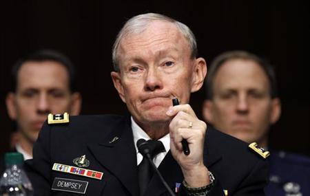Chairman of the Joint Chiefs of Staff Army Gen. Martin Dempsey testifies during a hearing on Capitol Hill, November 15, 2011.  REUTERS/Kevin Lamarque