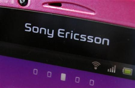 A Sony Ericsson logo on a smartphone is pictured at a mobile phone shop in Tokyo October 7, 2011. REUTERS/Yuriko Nakao/Files