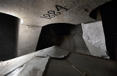 An interior view of the top of the Washington Monument as inspections began in Washington, is seen in this handout photograph, taken and released on September 28, 2011.  REUTERS/Colin Winterbottom/National Park Service/Handout