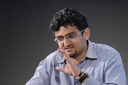 Internet activist Wael Ghonim of Egypt participates in a panel discussion on youth, jobs and growth in the Middle East and North Africa, during the International Monetary Fund and World Bank Spring Meetings at IMF headquarters in Washington, April 15, 2011. REUTERS/Jonathan Ernst