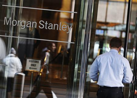 A man walks into the Morgan Stanley offices in New York January 18, 2012.    REUTERS/Shannon Stapleton
