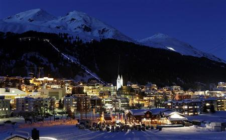 A general view shows the Swiss mountain resort of Davos January 16, 2012. The World Economic Forum (WEF) will take place in Davos from January 25 to 29.     REUTERS/Arnd Wiegmann