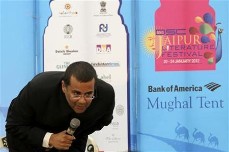 Chetan Bhagat speaks at the annual Literature Festival in Jaipur,January 21, 2012. REUTERS/Altaf Hussain