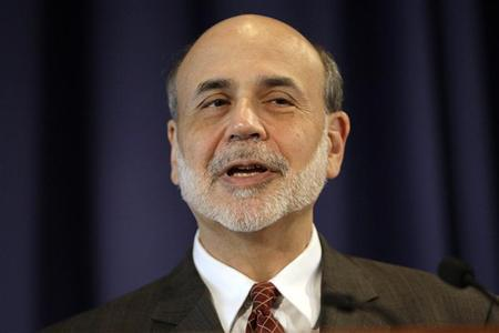 Federal Reserve Chairman Ben Bernanke delivers opening remarks at a conference on ''Small Business and Entrepreneurship during an Economic Recovery'' at the Federal Reserve in Washington, November 9, 2011.  REUTERS/Hyungwon Kang