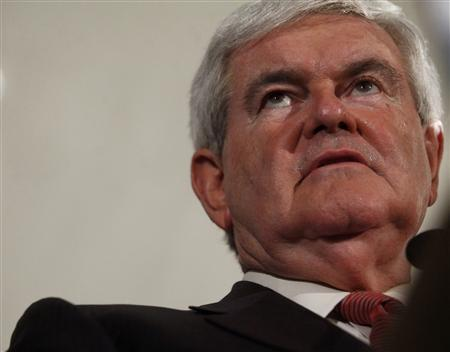 Republican U.S. presidential candidate and former House Speaker Newt Gingrich attends his South Carolina Primary election night rally in Columbia, South Carolina, January 21, 2012. REUTERS/Eric Thayer