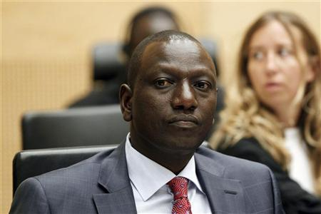 Kenya's former Higher Education Minister William Samoei Ruto sits in a courtroom of the International Criminal Court (ICC) in The Hague, Netherlands September 1, 2011.   REUTERS/Bas Czerwinski/Pool
