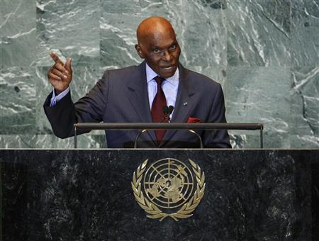 Senegal's President Abdoulaye Wade addresses the 66th United Nations General Assembly at the U.N. headquarters in New York September 21, 2011. REUTERS/Chip East