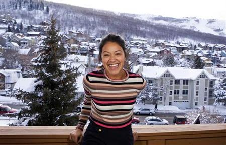 Actress Gina Rodriguez poses for a portrait while promoting the film ''Filly Brown'' during the Sundance Film Festival in Park City, Utah January 22, 2012. REUTERS/Lucas Jackson