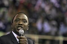 Kenyan Finance Minister Uhuru Kenyatta in a file photo. REUTERS/Thomas Mukoya