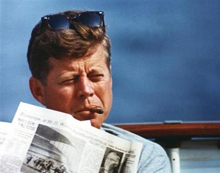 President John F. Kennedy in an undated photograph.  REUTERS/JFK Presidential Library and Museum
