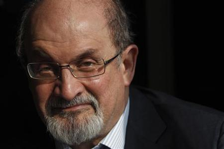 Author Salman Rushdie poses for a photograph after an interview with Reuters in central London, October 8, 2010. REUTERS/Andrew Winning/Files