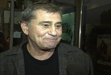 Actor James Farentino is interviewed at the premiere of his film ''Bulletproof'' in Los Angeles in this August 28, 1996 still image taken from video. Farentino, who played more than 100 roles in TV, film and on stage, has died at age of 73, a family spokesman said on January 25, 2012. Farentino was a regular face in TV series such as ''ER'', where he played the father of George Clooney's character, in 1996, ''Dynasty'' and ''Melrose Place''.  REUTERS/Reuters TV