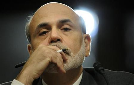 U.S. Federal Reserve Chairman Ben Bernanke gives testimony at a Joint Economic Committee hearing on the economic outlook, on Capitol Hill in Washington October 4, 2011. REUTERS-Jonathan Ernst