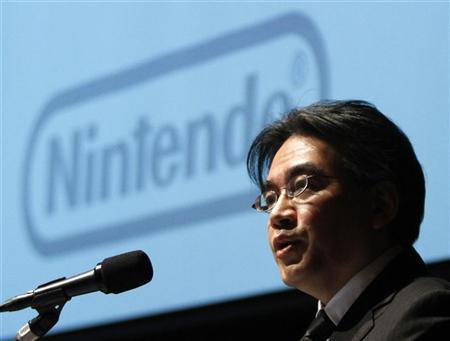 Nintendo Co President Satoru Iwata speaks during their strategy and earnings briefings in Tokyo January 27, 2012.  REUTERS/Toru Hanai