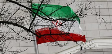 Iran's national flag is pictured at Iran's embassy to Germany in Berlin December 1, 2011.  REUTERS/Stringer
