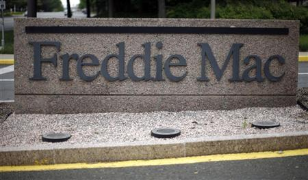 A sign on a street signifies the headquarters of Freddie Mac in McLean, Virginia, May 14, 2008. REUTERS/Jason Reed