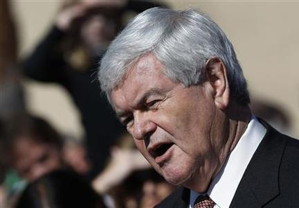 U.S. Republican presidential candidate and former Speaker of the House Newt Gingrich speaks to the media after attending a church service at the Exciting Idlewild Baptist Church in Lutz, Florida January 29, 2012.  REUTERS/Shannon Stapleton