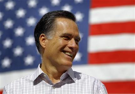 Republican presidential candidate and former Massachusetts Governor Mitt Romney listens as he is introduced at a campaign rally in Naples, Florida January 29, 2012. REUTERS/Brian Snyder