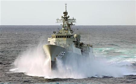 The Australian naval frigate HMAS Ballarat is pictured in this handout photograph taken on March 10, 2007.   REUTERS/Australian Department of Defence/Handout