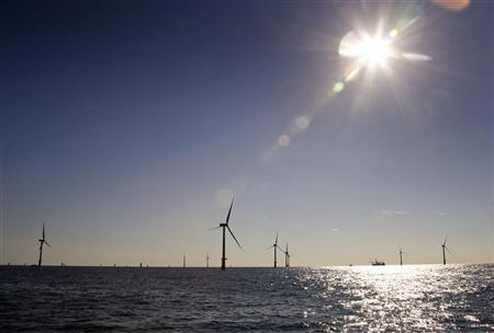 Wind turbines are seen in this September 3, 2007 file photo. REUTERS/ Michael Kooren