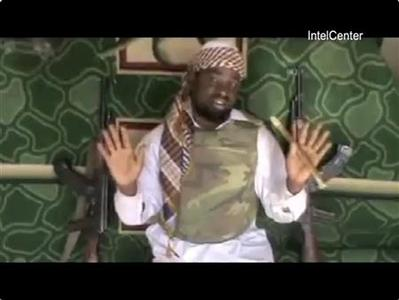 Boko Haram emir Abubakar Shekau makes his first major video appearance in a new video address entitled, ''A Message to President Goodluck Jonathan'', in this still image taken from video recorded in an unknown location, received by Reuters January 11, 2012. REUTERS/IntelCenter/Handout