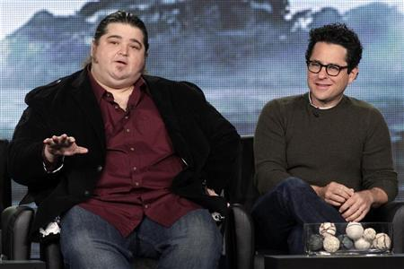 Actor Jorge Garcia and Executive Producer J.J. Abrams, of the new drama series ''Alcatraz'' take part in a panel session at the FOX Winter TCA Press Tour in Pasadena, California, January 8, 2012. REUTERS/Jonathan Alcorn