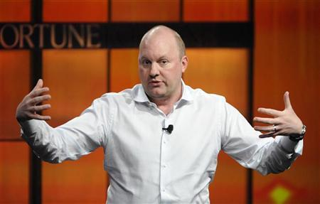 Marc Andreessen, co-founder and general partner of Andreessen Horowitz, speaks during the ''The Future of Technology'' panel at the Fortune Tech Brainstorm 2009 in Pasadena, California July 22, 2009. REUTERS/Phil McCarten