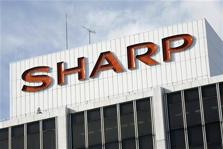 The Sharp Corp logo is seen at the company's showroom in Tokyo January 10, 2009. REUTERS/Stringer