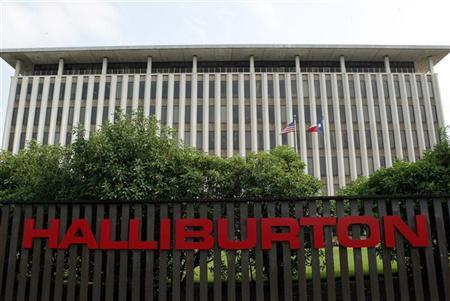 Halliburton headquarters near downtown Houston which houses subsidiary Kellogg Brown and Root (KBR), May 9, 2003. REUTERS/Stringer