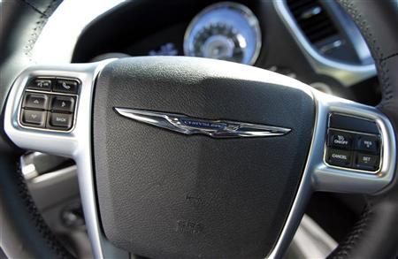 A Chrysler car steering wheel is seen in Los Angeles, California January 4, 2012. REUTERS/Lucy Nicholson