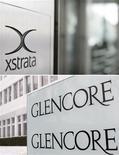 <p>Le géant minier Xstrata confirme être en discussions avec le groupe de négoce de matière premières Glencore International en vue d'une éventuelle fusion. /Photo d'archives/REUTERS/Michael Buholzer/Christian Hartmann</p>