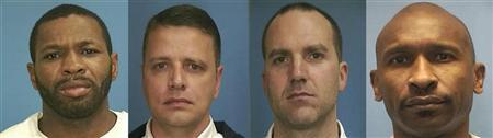 Law enforcement photos show Anthony McCray (L-R), David Glenn Gatlin, Joseph Ozment and Charles Hooker, some of the prisoners pardoned by former Mississippi Governor Haley Barbour. REUTERS/Mississippi Department of Corrections