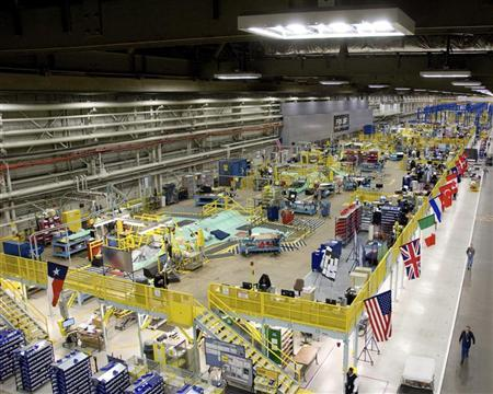 The Lockheed Martin plant in Fort Worth, Texas that builds F-35 fighter jets, in a March 2010 image. REUTERS/Fred Clingerman-Lockheed Martin