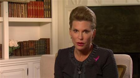 Susan G. Komen for the Cure founder Nancy Brinker makes an address aired on the organization's website on February 1, 2012. REUTERS/Susan G. Komen for the Cure