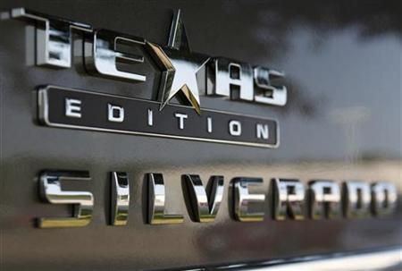 A ''Texas Edition'' Silverado pickup truck sits on the lot at a Chevrolet dealership in DeSoto, Texas September 3, 2009.    REUTERS/Jessica Rinaldi