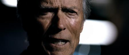 Clint Eastwood in Chrysler's ''It's Halftime in America'' Super Bowl advertisement. REUTERS/Chrysler