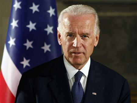 U.S. Vice President Joe Biden makes statements after his meeting with Greek Prime Minister Lucas Papademos in Athens December 5, 2011.  REUTERS/Thanassis Stavrakis/Pool
