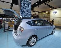 <p>A 2013 Toyota Prius V hybrid is displayed on the final press preview day for the North American International Auto Show in Detroit, Michigan, January 10, 2012. REUTERS/Mike Cassese</p>