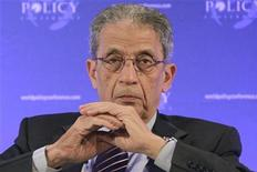 Egypt's Amr Moussa attends a plenary session during the World Policy Conference in Austria, December 9, 2011. REUTERS/Herwig Prammer