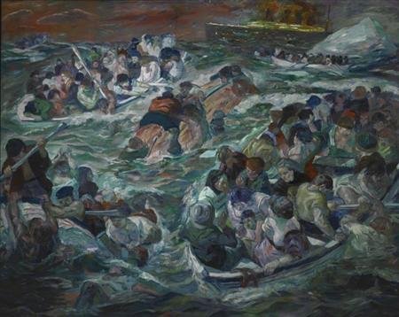 The Sinking of the Titanic, by Max Beckmann, part of the St. Louis Art Museum's collection, is pictured in an undated handout photo obtained by Reuters January 3, 2012. REUTERS/St. Louis Art Museum/Handout.