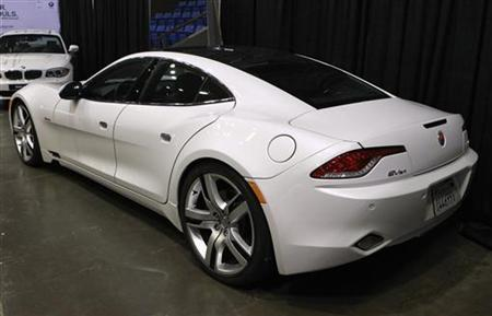 A Fisker Karma luxury plug-in hybrid car is seen at the sixth annual Alternative Transportation Expo and Conference (AltCar) in Santa Monica, California Sept. 29, 2011. REUTERS/Lucy Nicholson